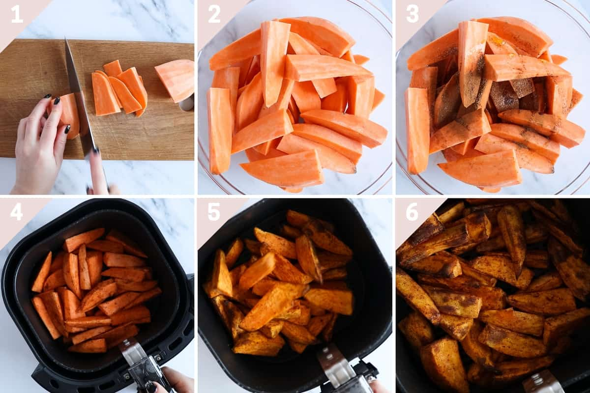 how to make air fryer sweet potatoes