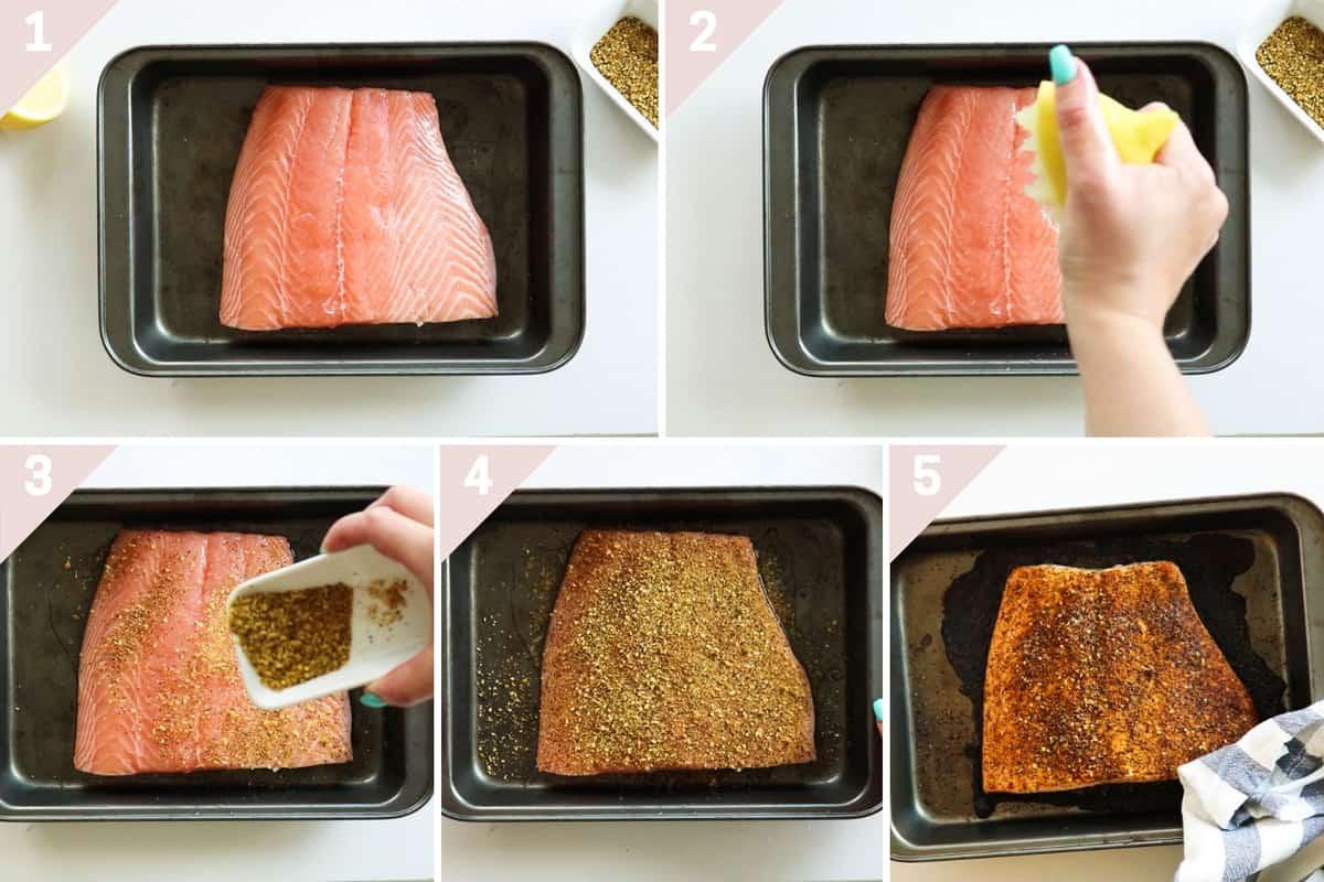 how to make lemon pepper salmon