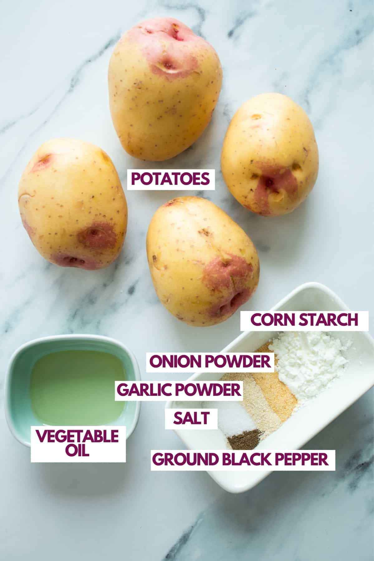 ingredients for homemade tater tots