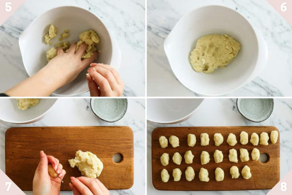collage showing how to make tater tots