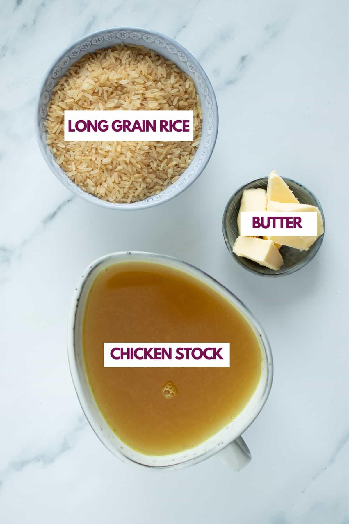 creamy rice ingredients