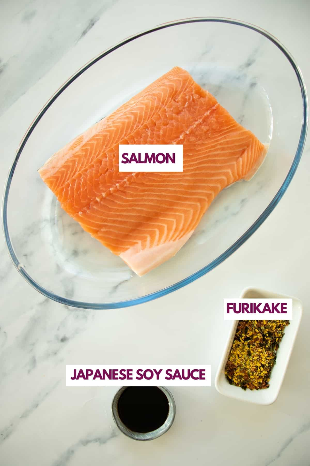 ingredients for furikake salmon