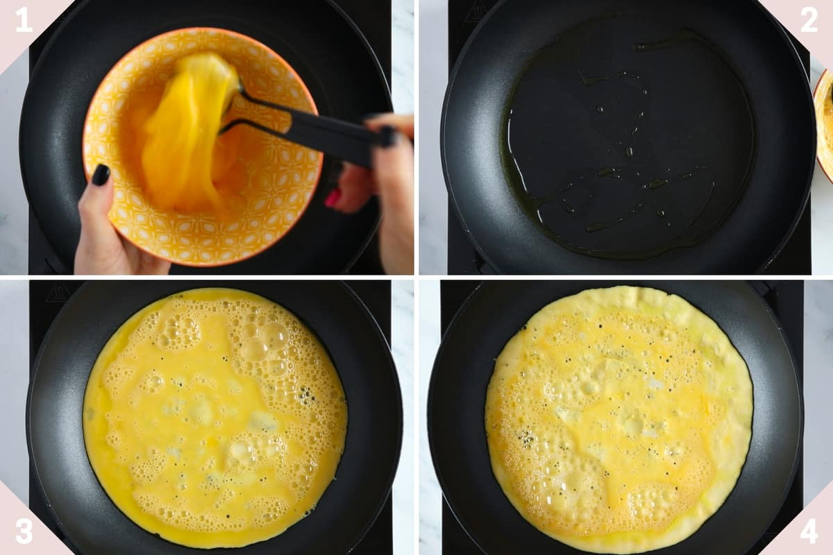 how to make omelette for thai curry fried rice