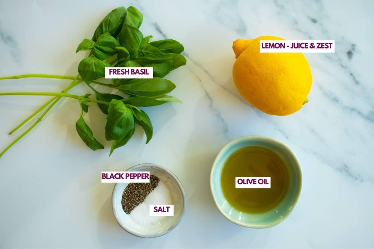 ingredients for lemon chicken marinade