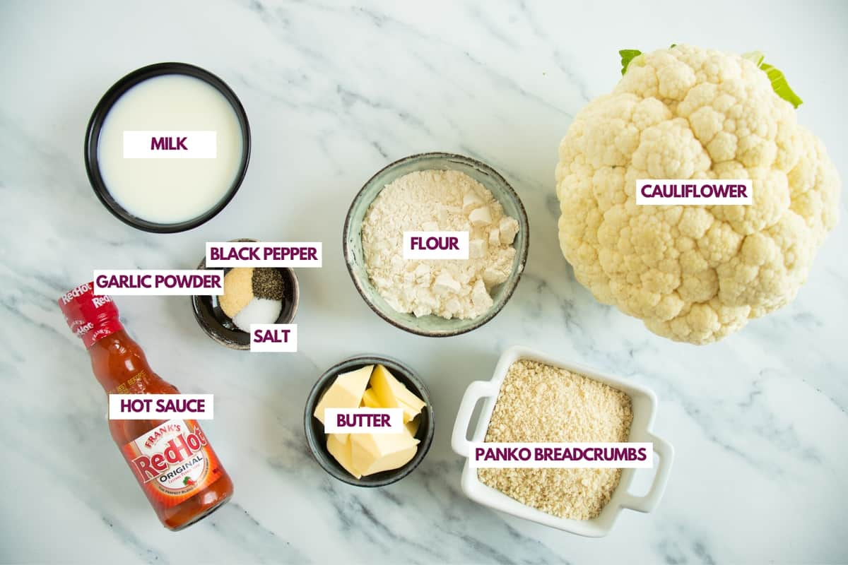 air fryer buffalo cauliflower ingredients