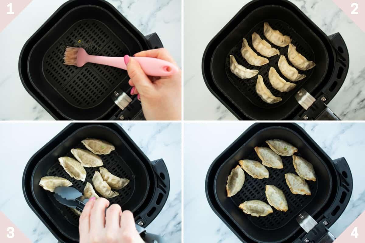 how to make air fryer dumplings