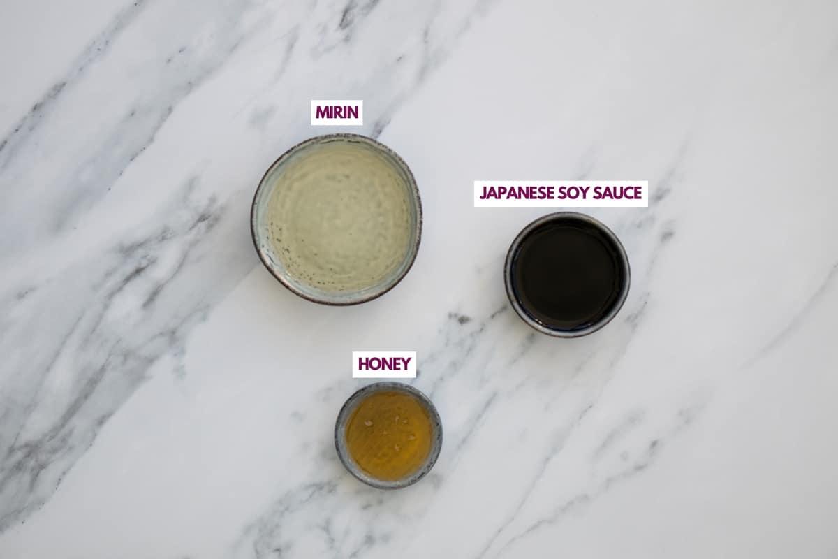 ingredients for easy teriyaki sauce