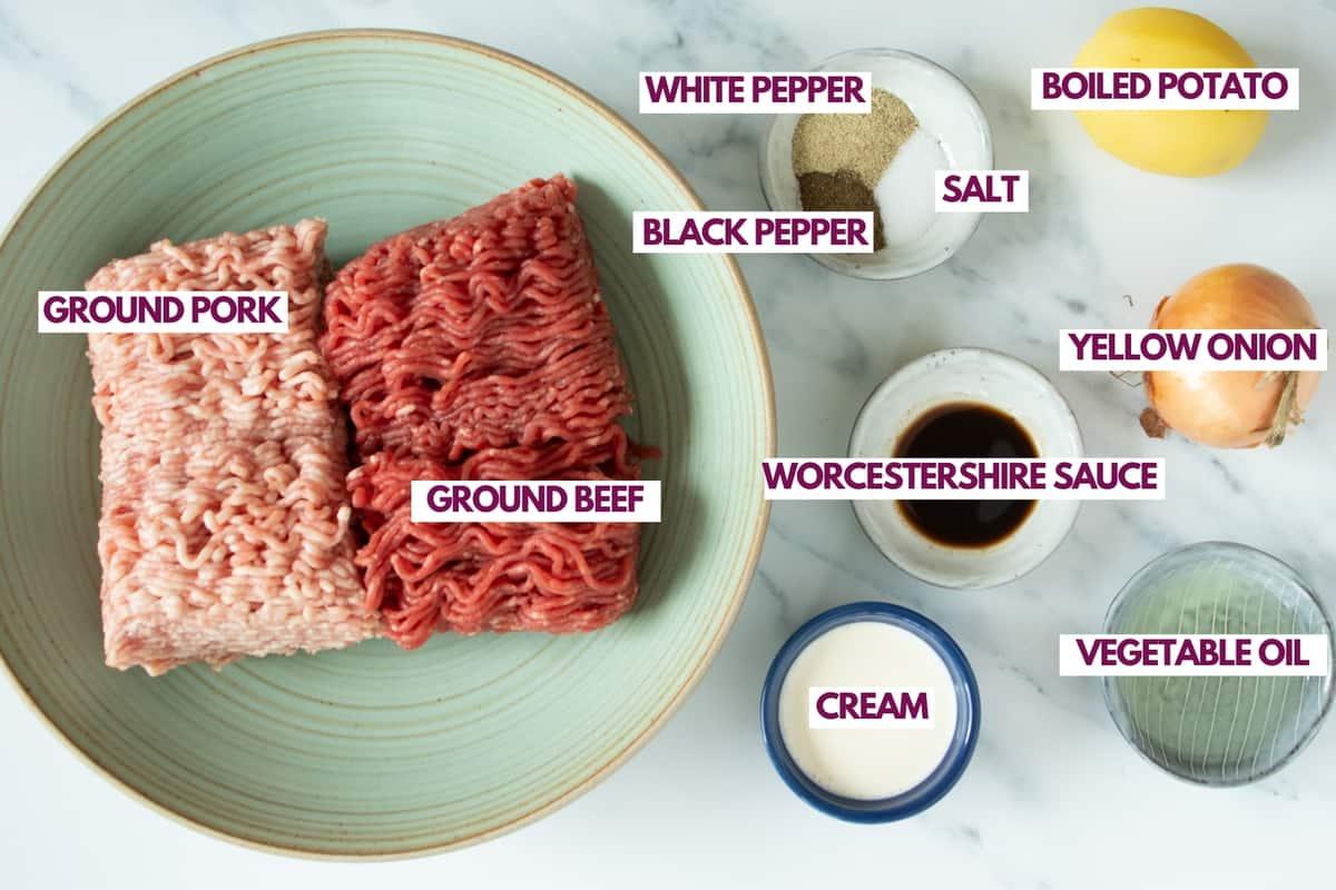 ingredients for air fryer meatballs