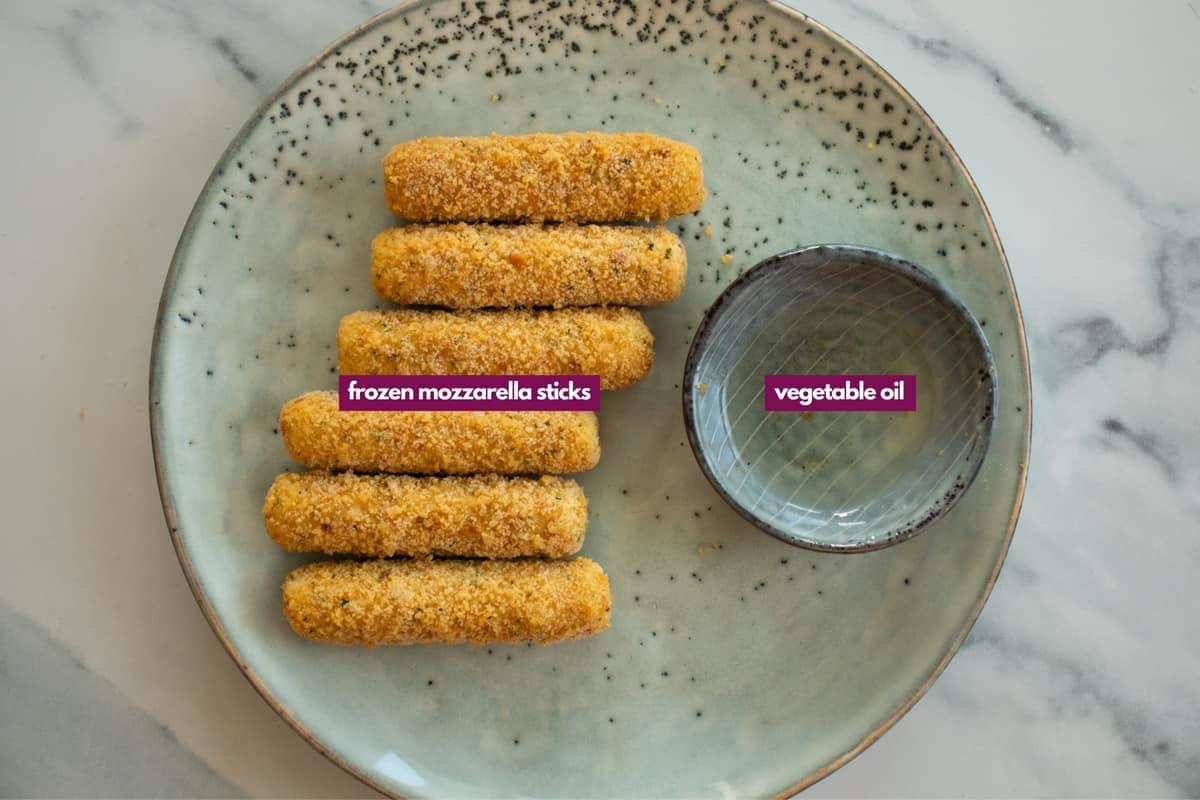 ingredients for air fryer frozen mozzarella sticks