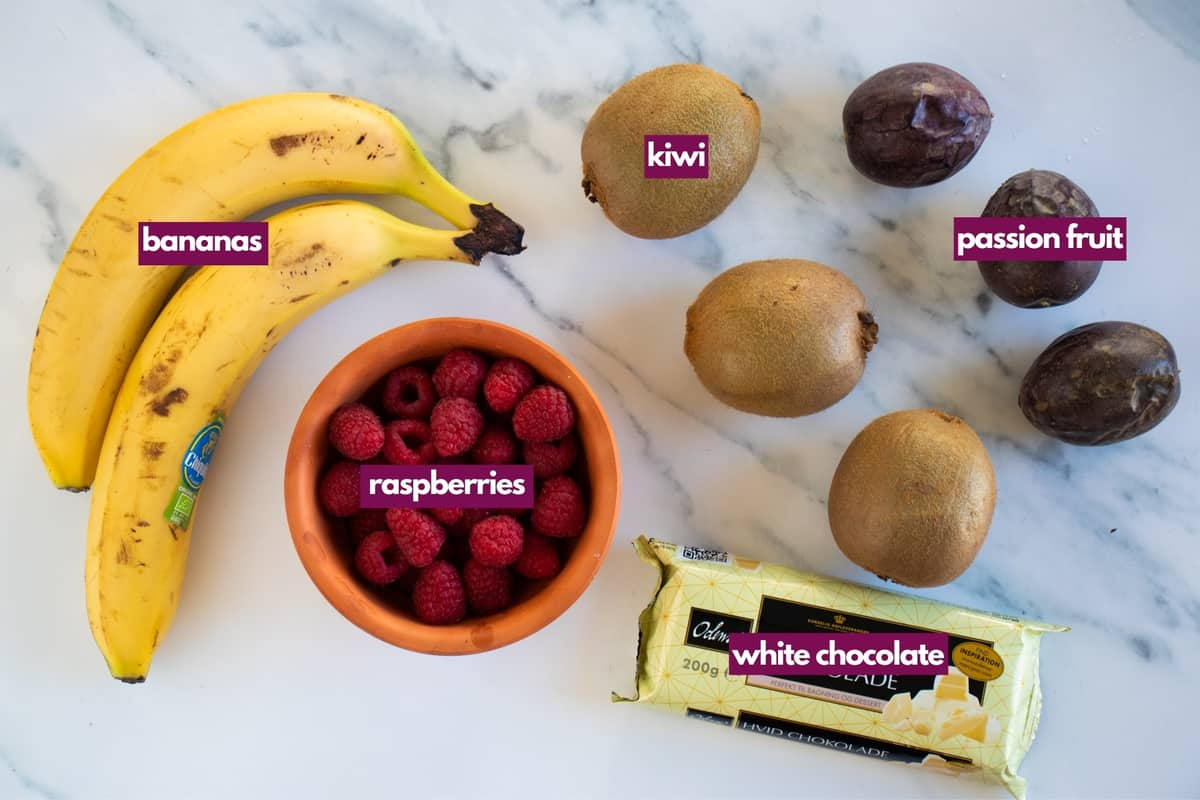 ingredients for baked fruit